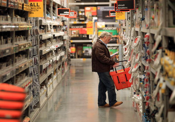 HAYES, ENGLAND - APRIL 01: A customer looks at goods in a B & Q store on April 1, 2010 in Hayes, England. (Photo by Peter Macdiarmid/Getty Images)
