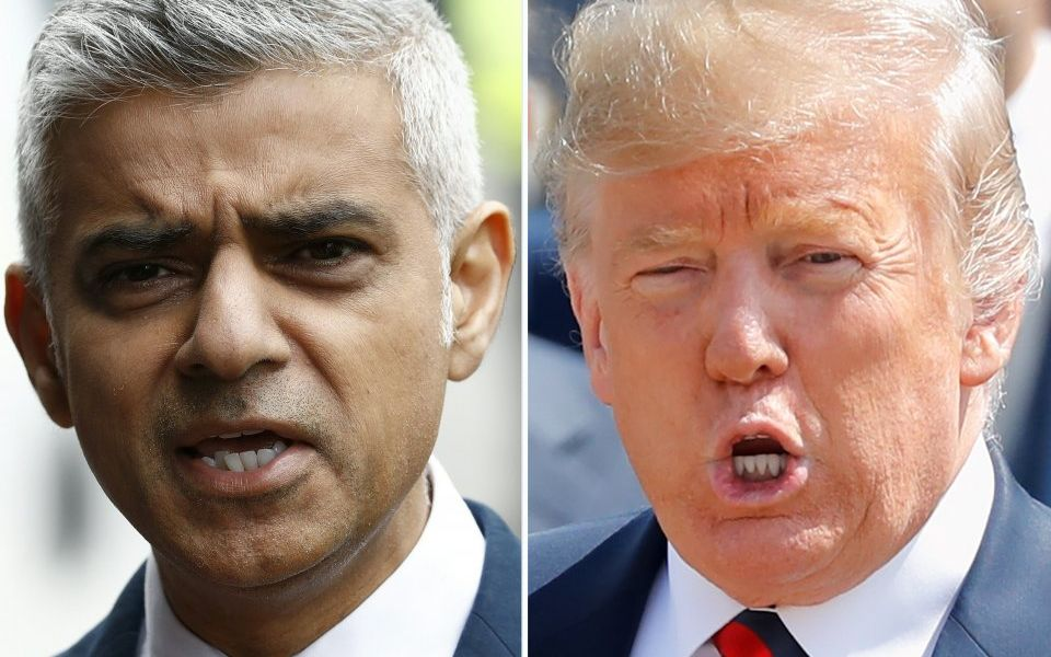 Donald Trump blasts Sadiq Khan in misspelled tweet after criticism of time spent on the golf course
