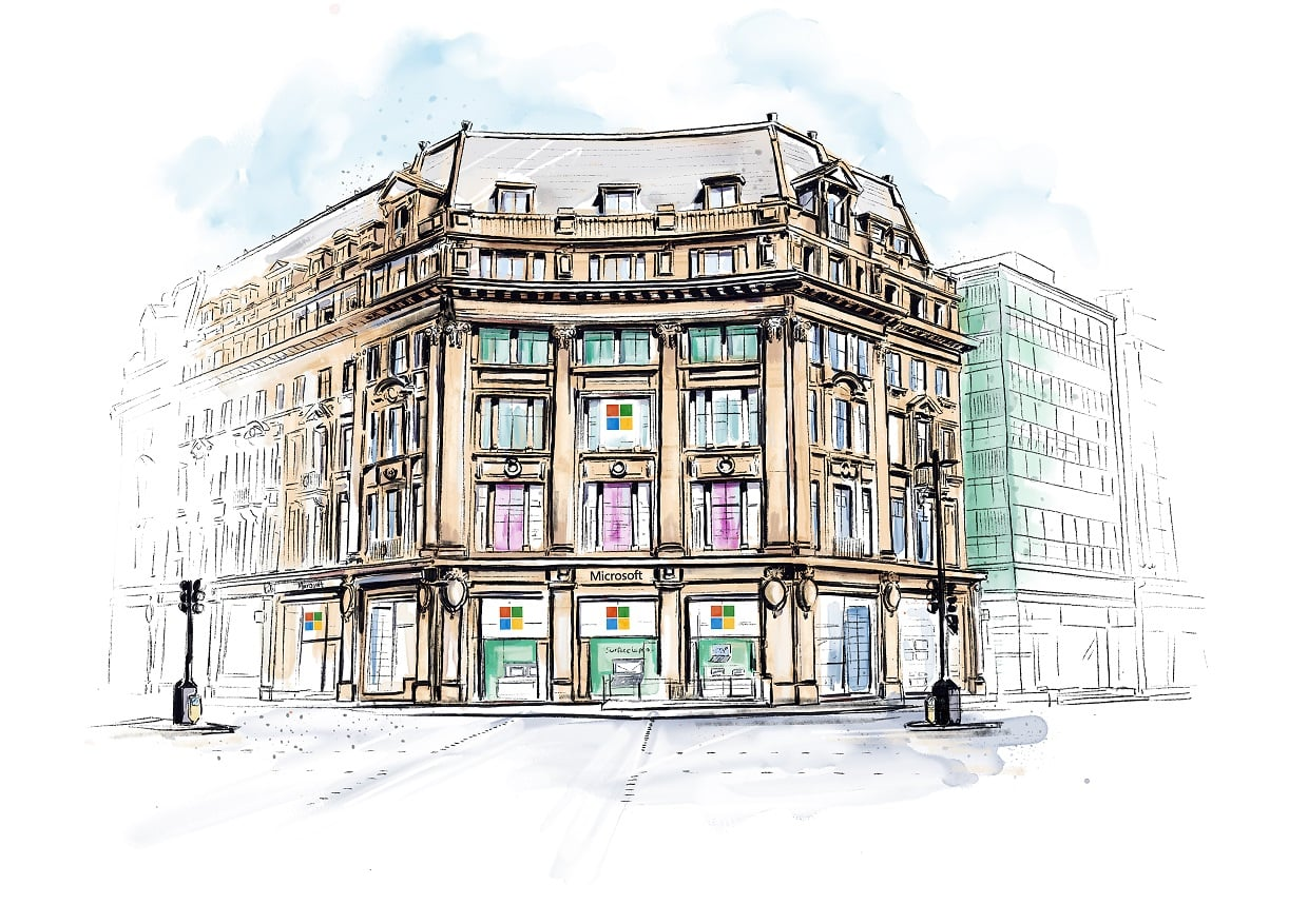 Microsoft to open first UK store in London, one minute away from Apple's Oxford Circus store