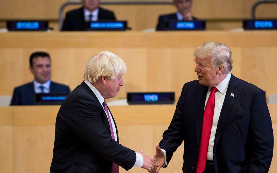 US President Donald Trump endorses 'excellent' Boris Johnson to become Prime Minister