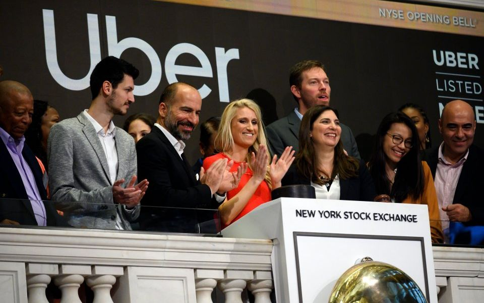 Uber shares debut on New York Stock Exchange in $82.4bn IPO