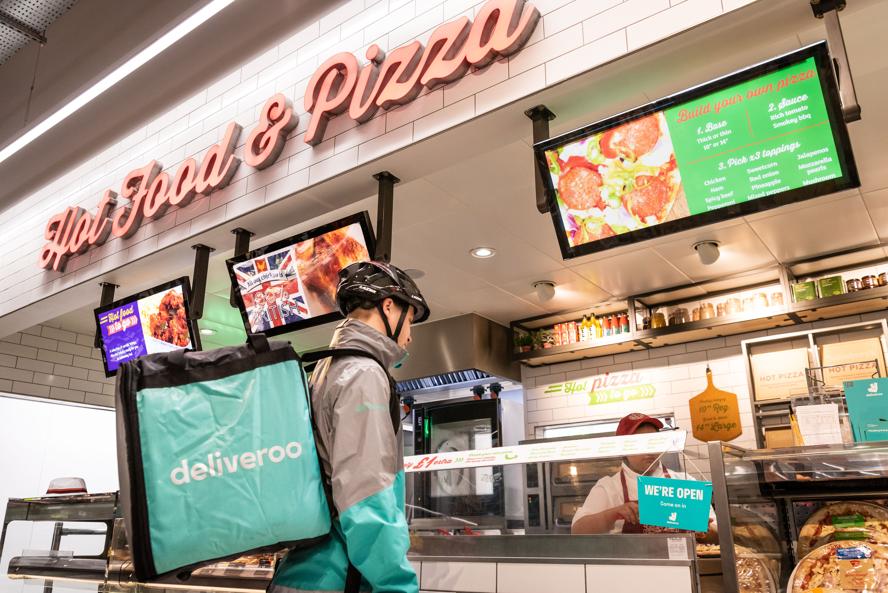 Sainsbury's partners with Deliveroo on pizza takeaway service