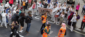 Bad day at the office: Climate change activists protest outside the wrong building