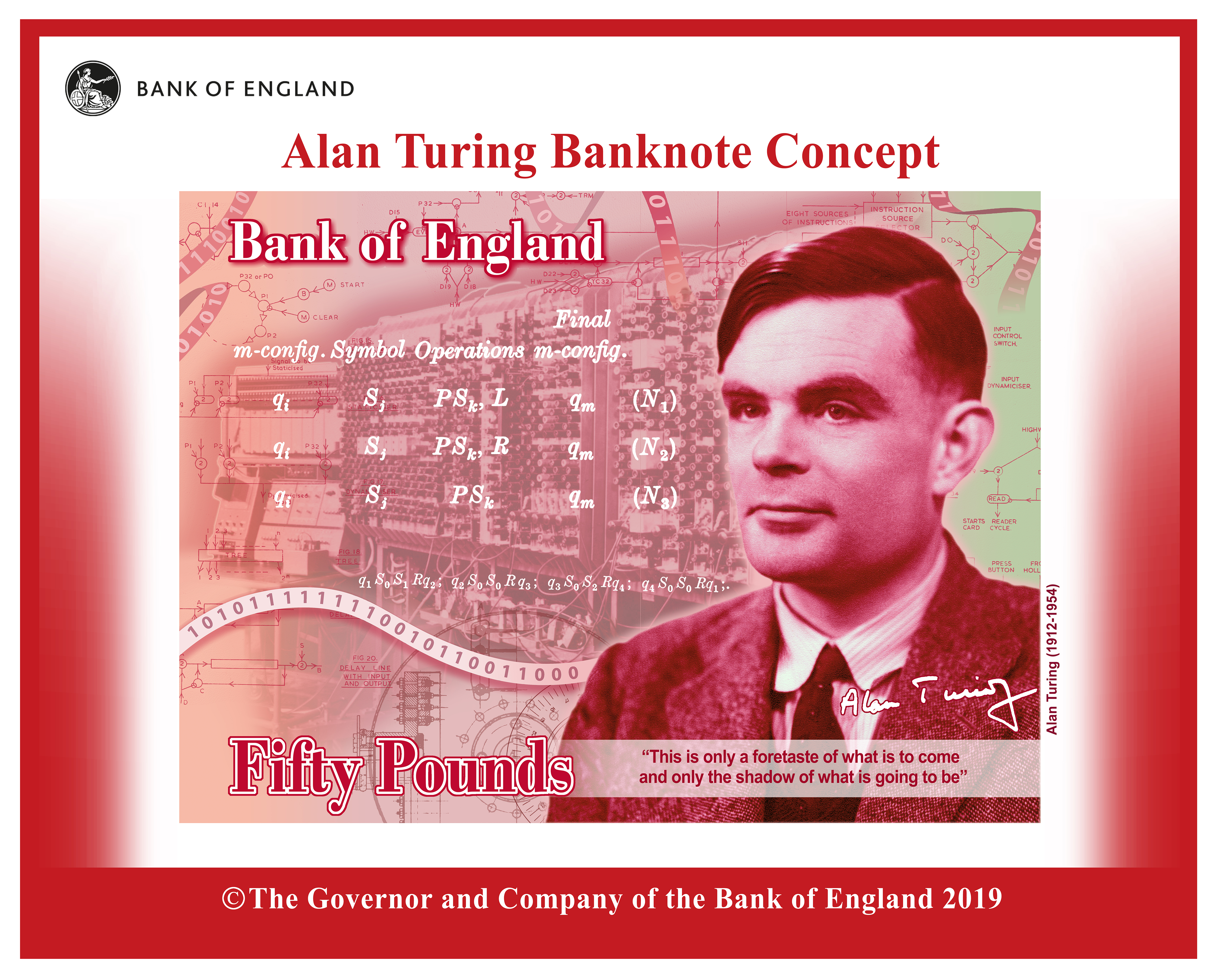 Code-breaker Alan Turing revealed as new face of £50 banknote