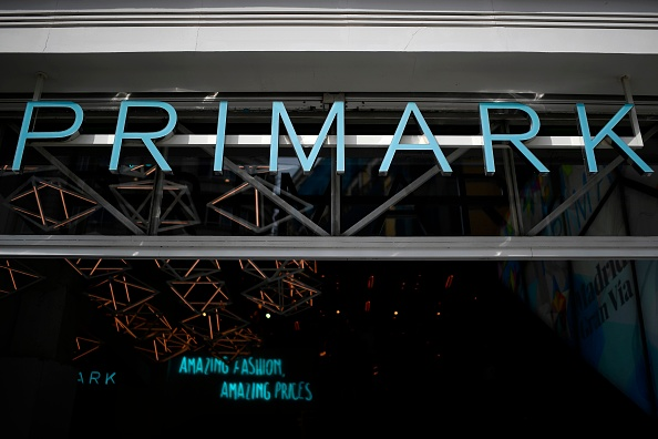 A picture shows the logo of Irish fashion retailer Primark in Madrid on August 23, 2018. (Photo by GABRIEL BOUYS / AFP) (Photo credit should read GABRIEL BOUYS/AFP/Getty Images)