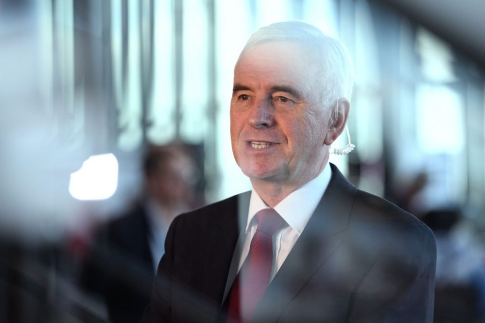 Labour will split up Treasury and move half north, vows John McDonnell