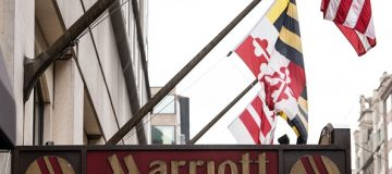 """The Marriott logo is seen in Washington, DC, on November 30, 2018 after Marriott International announced that up to 500 million hotel guests may have had their data compromised in a hack of the Starwood reservation database. - Marriott said it was alerted on September 8 that there had been an attempt to hack their reservation database in the US. The hack is among the largest ever disclosed, prompting a big drop in Marriott shares and an investigation by New York Attorney General Barbara Underwood, who said on Twitter that """"New Yorkers deserve to know that their personal information will be protected."""" (Photo by NICHOLAS KAMM / AFP) (Photo credit should read NICHOLAS KAMM/AFP/Getty Images)"""