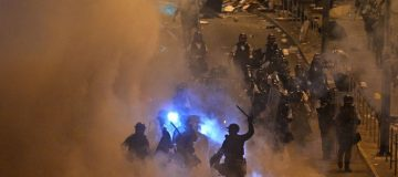 Police fire teargas at Hong Kong protesters