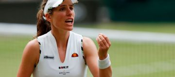 Konta feels the heat as she slides to Strycova defeat at Wimbledon