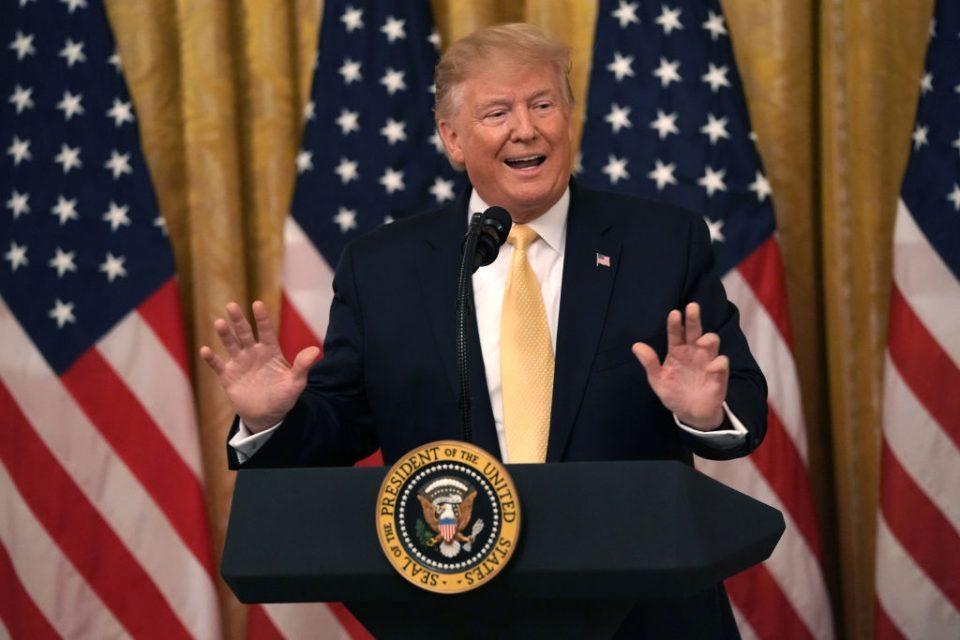 Donald Trump takes credit for China slowdown