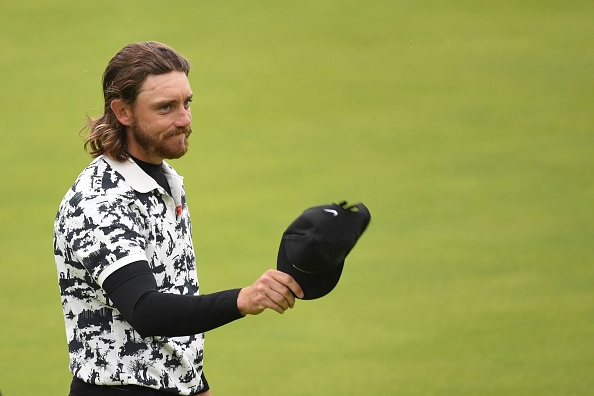 England's Tommy Fleetwood waves to the crowd after finishing second in the final round of the British Open golf Championships at Royal Portrush golf club in Northern Ireland on July 21, 2019. (Photo by Andy BUCHANAN / AFP) / RESTRICTED TO EDITORIAL USE        (Photo credit should read ANDY BUCHANAN/AFP/Getty Images)