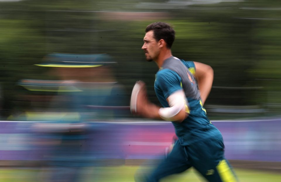BIRMINGHAM, ENGLAND - JULY 09:  Mitchell Starc of Australia during the Australia Nets Session at Edgbaston on July 09, 2019 in Birmingham, England. (Photo by Christopher Lee/Getty Images)