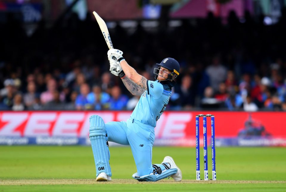 LONDON, ENGLAND - JULY 14: Ben Stokes of England bats during the Final of the ICC Cricket World Cup 2019 between New Zealand and England at Lord's Cricket Ground on July 14, 2019 in London, England. (Photo by Clive Mason/Getty Images)