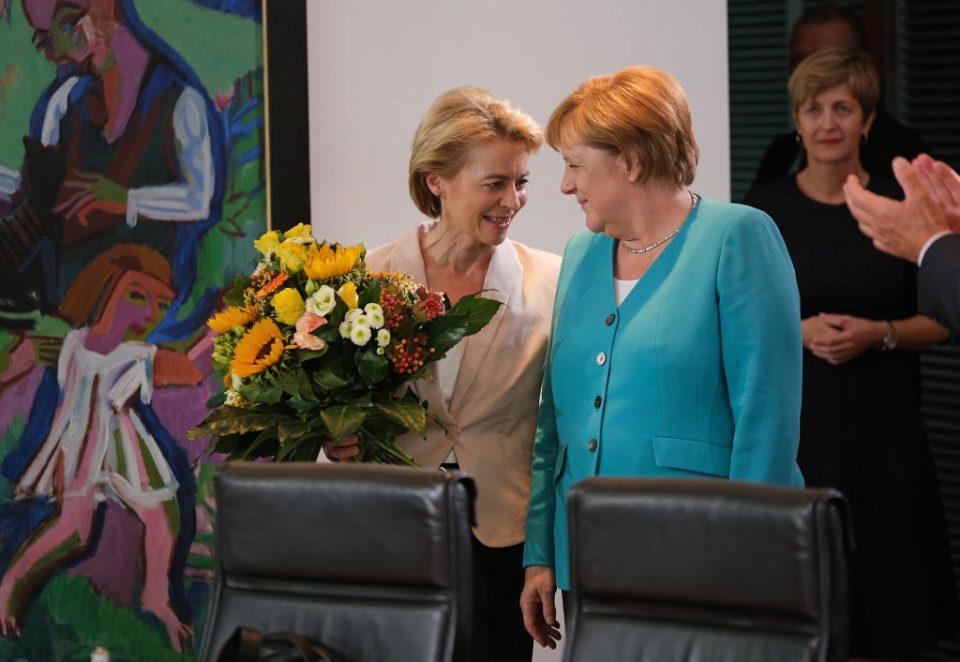 Von der Leyen is a key ally of German chancellor Angela Merkel