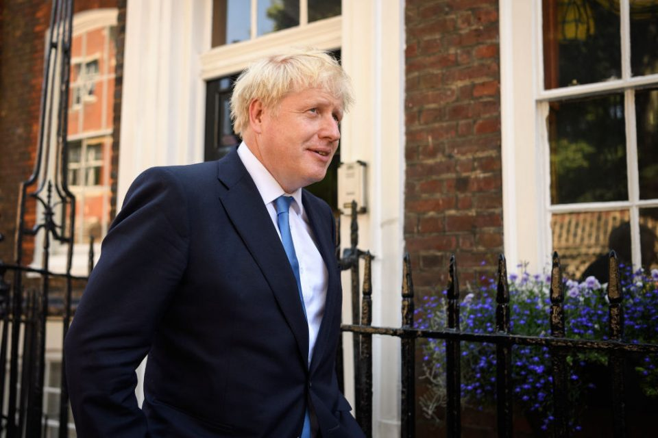 Boris Johnson won the Tory leadership race by a landslide yesterday