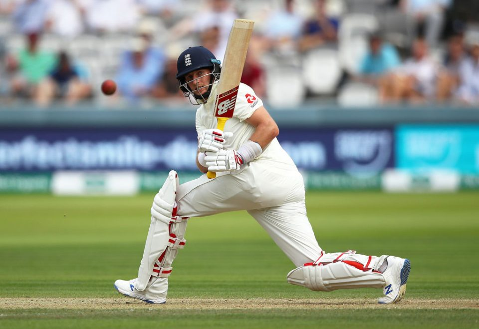 LONDON, ENGLAND - JULY 25:  Joe Root of England bats during day two of the Specsavers Test Match between England and Ireland at Lord's Cricket Ground on July 25, 2019 in London, England. (Photo by Julian Finney/Getty Images)