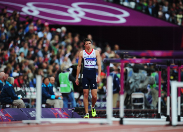 LONDON, ENGLAND - AUGUST 07:  Andrew Pozzi of Great Britain competes in the Men's 110m Hurdles Round 1 Heats on Day 11 of the London 2012 Olympic Games at Olympic Stadium on August 7, 2012 in London, England.  (Photo by Stu Forster/Getty Images)