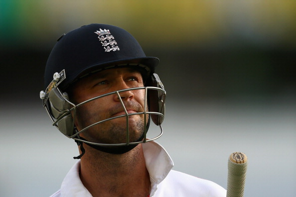 BRISBANE, AUSTRALIA - NOVEMBER 23:  Jonathan Trott of England walks off the field after being dismissed by Mitchell Johnson of Australia during day three of the First Ashes Test match between Australia and England at The Gabba on November 23, 2013 in Brisbane, Australia.  (Photo by Cameron Spencer/Getty Images)