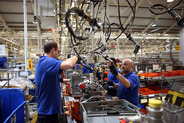 Eurozone manufacturing falls to three-month low as downturn drags on