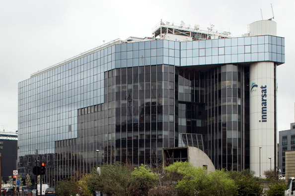 A picture shows the offices of satellite operator Inmarsat in central London on March 25, 2014. Inmarsat said it managed to work out which direction the missing Malaysia Airlines plane flew in by measuring the Doppler effect of hourly 'pings' from the aircraft. Malaysia's prime minister announced earlier that the Inmarsat analysis of flight MH370's path placed its last position in remote waters off Australia's west coast, meaning it can only have run out of fuel above the southern Indian Ocean. AFP PHOTO / LEON NEAL (Photo credit should read LEON NEAL/AFP/Getty Images)