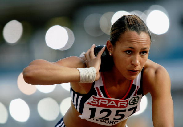 GOTHENBURG, SWEDEN - AUGUST 07:  Jessica Ennis of Great Britain competes during the Shot Put discipline in the Women's Heptathlon on day one of the 19th European Athletics Championships at the Ullevi Stadium on August 7, 2006 in Gothenburg, Sweden.  (Photo by Stu Forster/Getty Images)