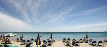 A beach in Ibiza