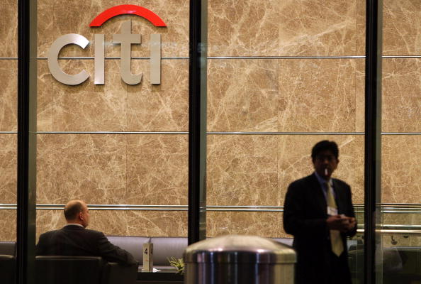 Citigroup posted a two per cent rise in revenues