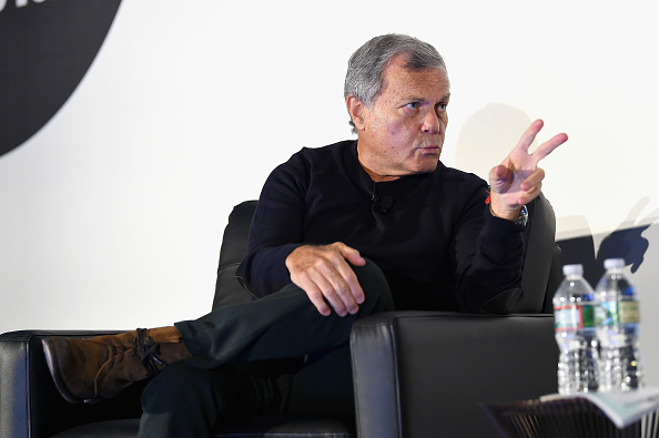 NEW YORK, NY - FEBRUARY 06: Founder and CEO, WPP Sir Martin Sorrell speaks on stage at the American Magazine Media Conference 2018 on February 6, 2018 in New York City. (Photo by Ben Gabbe/Getty Images for The Association of Magazine Media)