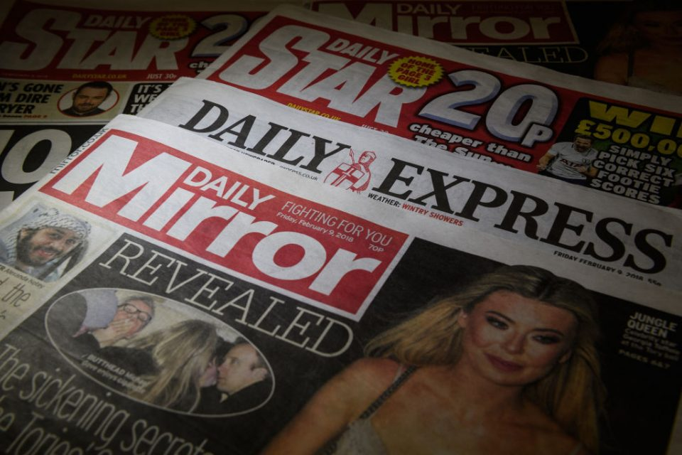 Express and Mirror publisher Reach will cut 550 jobs amid pandemic (Photo Illustration by Leon Neal/Getty Images)