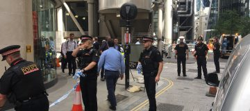 Police evacuated four buildings in the heart of the City of London (Photo credit: August Graham/City A.M.)