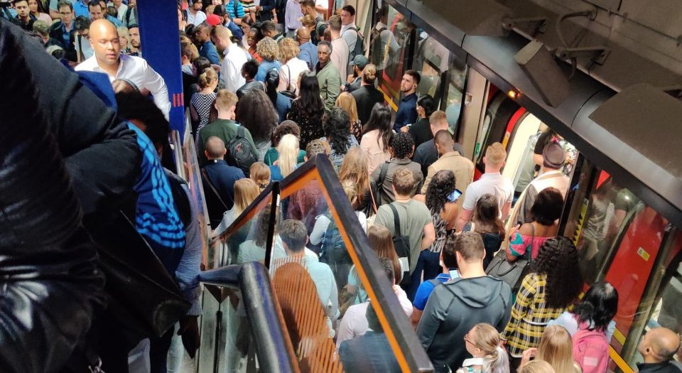 Jubilee Line delays forced TfL to evacuate North Greenwich station today (picture credit: Maja Marszalek)