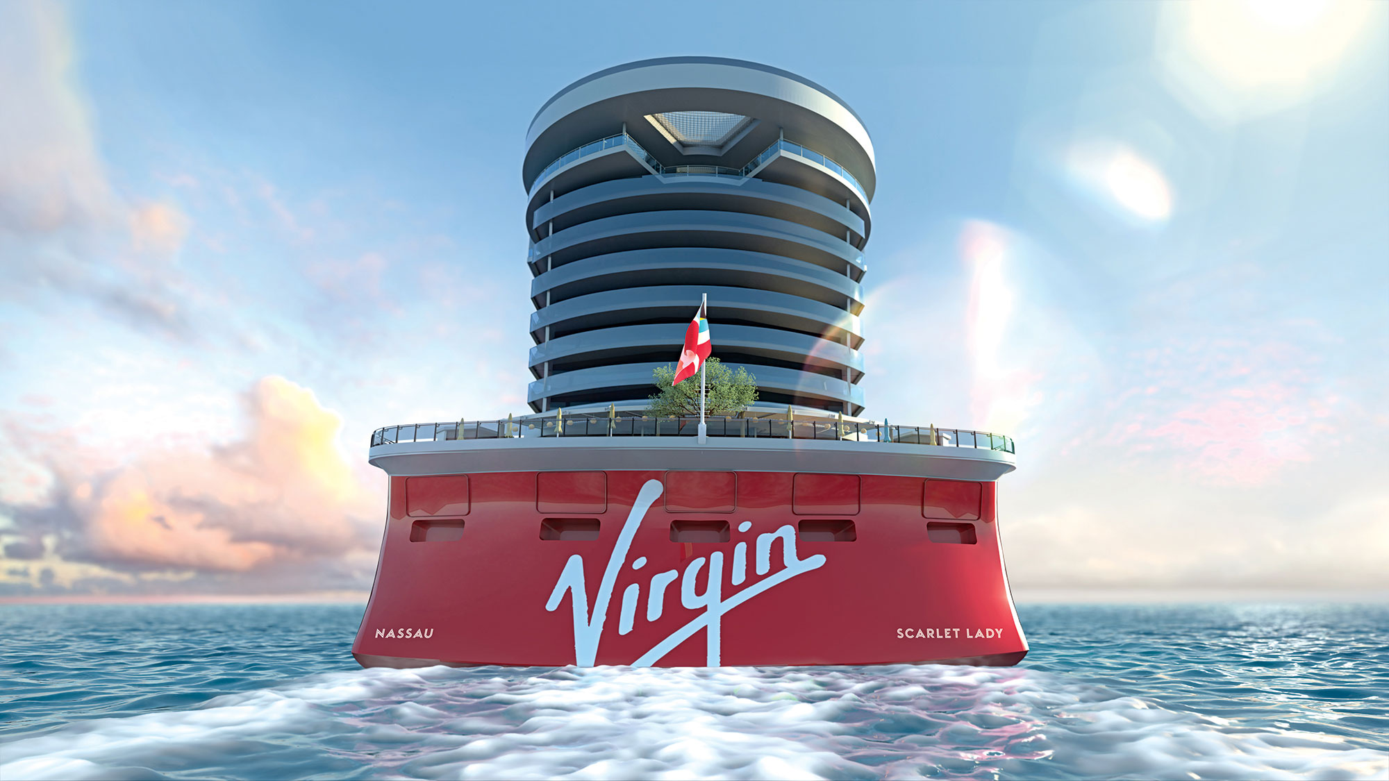 Richard Branson shares images of Virgin Voyages cruise liner