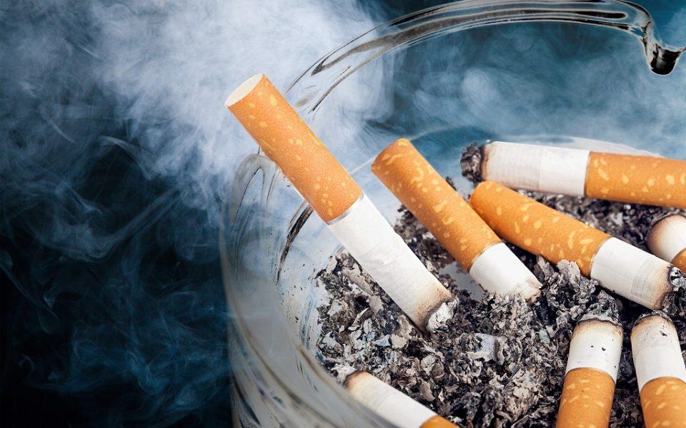 Burning cigarettes