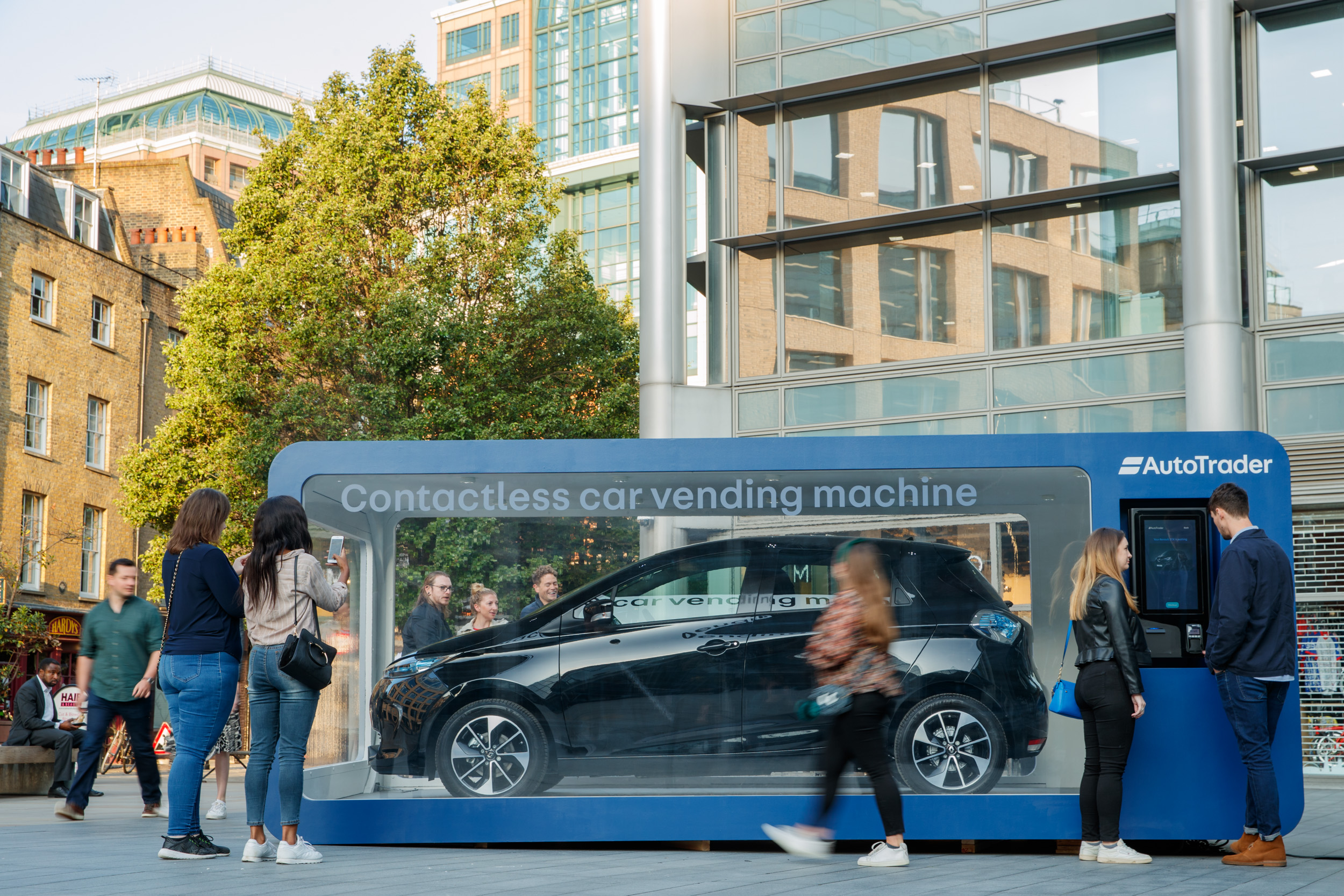 UK's first contactless car vending machine unveiled in London