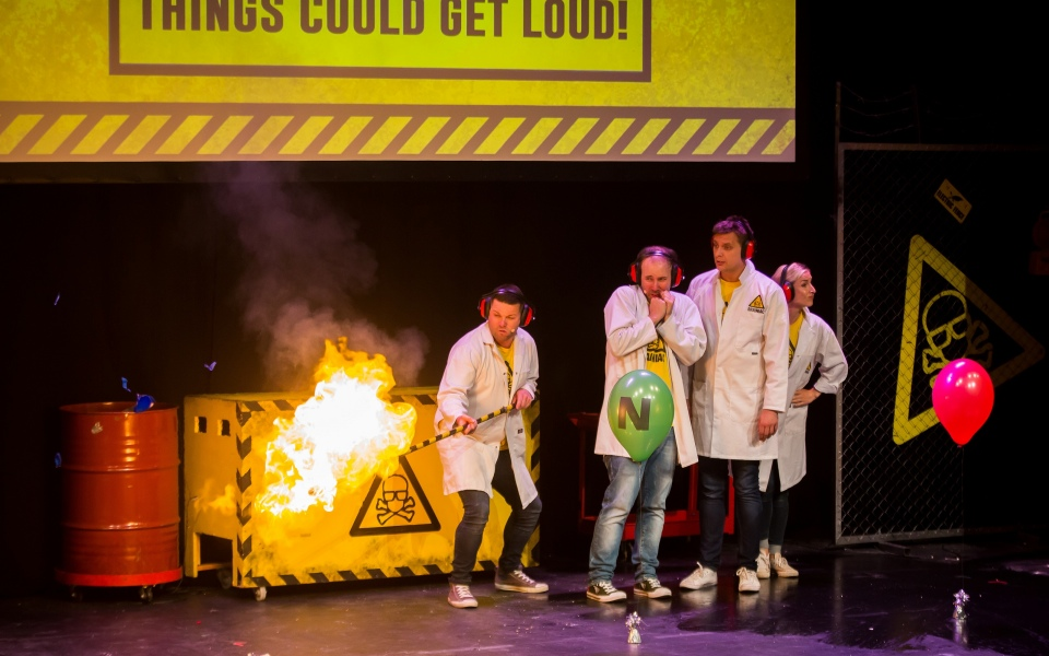 Brainiac Live review: Anarchic science stunts for kids who are really into loud noises