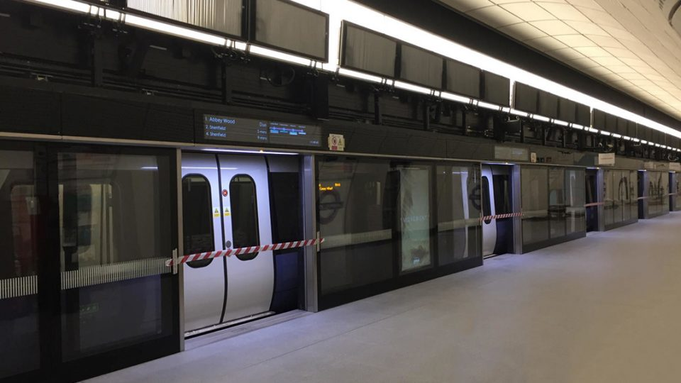 Crossrail progress pictures came through Twitter early this month to show station construction for the Elizabeth Line