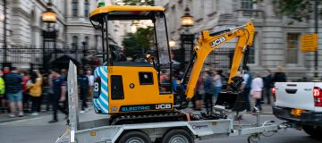 JCB charges ahead with 'historic' electric digger
