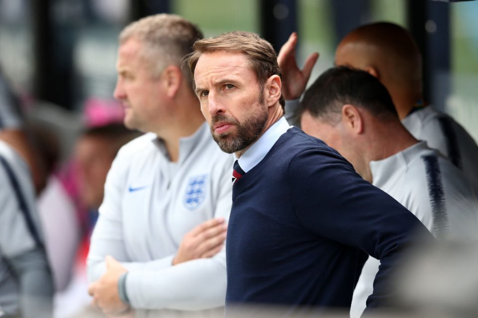 GUIMARAES, PORTUGAL - JUNE 09: Gareth Southgate manager of England looks on ahead of the UEFA Nations League Third Place Playoff match between Switzerland and England at Estadio D. Afonso Henriques on June 09, 2019 in Guimaraes, Portugal. (Photo by Jan Kruger/Getty Images)