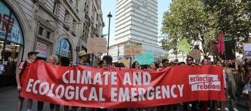 Protesters gather outside Brazilian embassy in London amid Amazon wildfires