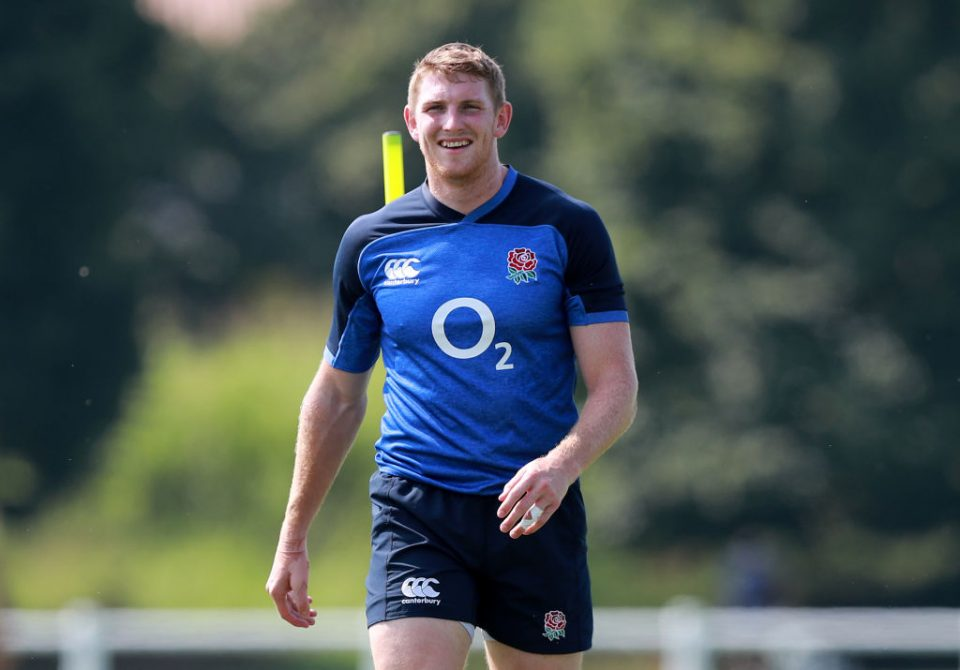 TREVISO, ITALY - JULY 30:  Ruaridh McConnochie looks on during the England training session on July 30, 2019 in Treviso, Italy. (Photo by David Rogers/Getty Images)