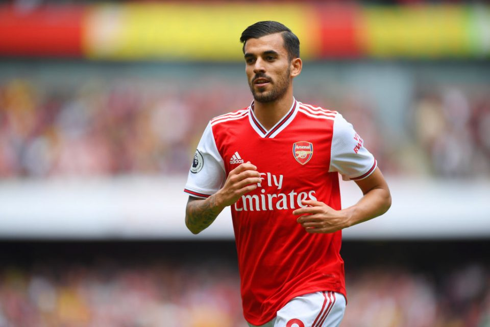 LONDON, ENGLAND - AUGUST 17: Dani Ceballos of Arsenal looks on during the Premier League match between Arsenal FC and Burnley FC at Emirates Stadium on August 17, 2019 in London, United Kingdom. (Photo by Michael Regan/Getty Images)