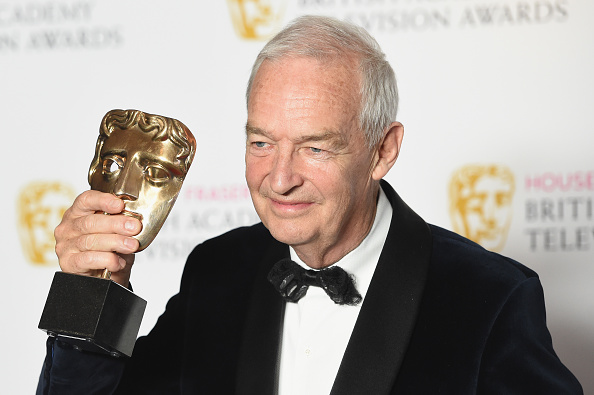 LONDON, ENGLAND - MAY 08: Jon Snow poses with the award for Best News Coverage for the Paris Massacre in the Winners room at the House Of Fraser British Academy Television Awards 2016 at the Royal Festival Hall on May 8, 2016 in London, England. (Photo by Stuart C. Wilson/Getty Images)