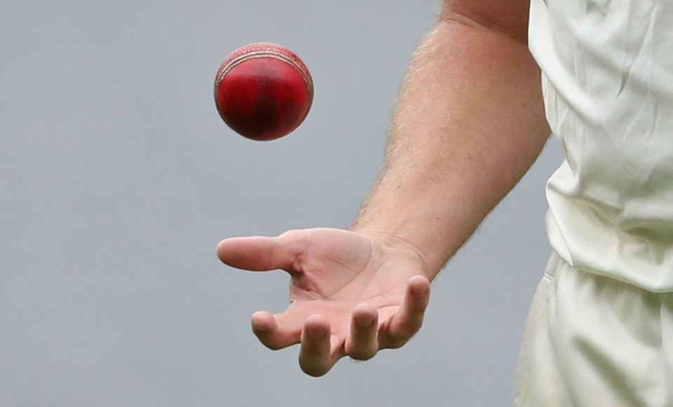 MELBOURNE, AUSTRALIA - FEBRUARY 01:  A detail as Doug Bollinger of New South Wales holds the Dukes ball during the Sheffield Shield match between Victoria and New South Wales at the Melbourne Cricket Ground on February 1, 2017 in Melbourne, Australia.  (Photo by Scott Barbour/Getty Images)