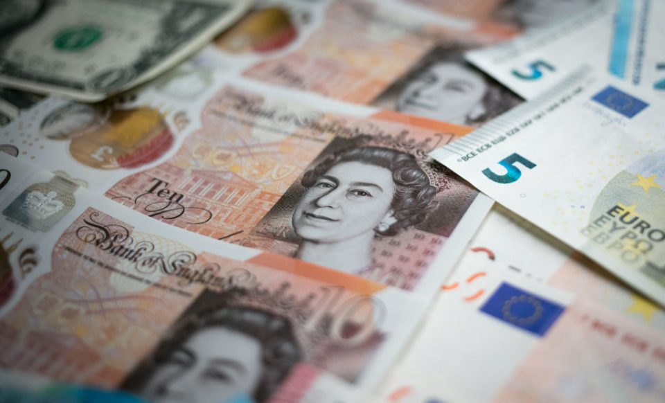 Sterling bounces after falling to ten-year low against euro