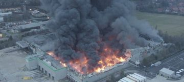 Firefighters put out blaze at another Ocado warehouse