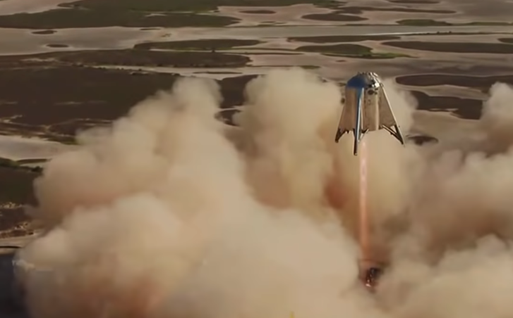 Watch Elon Musk's Space X Starhopper rocket hit new heights on Texas hover test