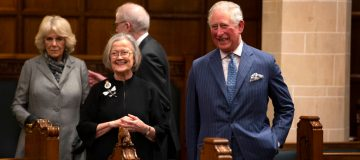 Lady Hale with Prince Charles
