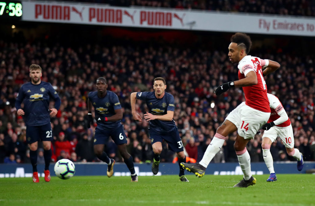 Did Manchester United and Arsenal break each other  last season?