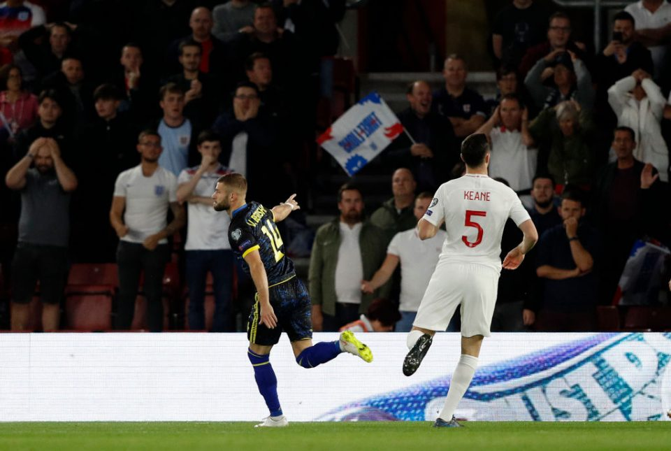 Michael Keane was to blame for Kosovo's opening goal. Credit: Getty