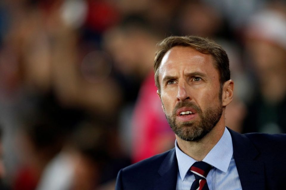 England's manager Gareth Southgate reacts during the UEFA Euro 2020 qualifying Group A football match between England and Kosovo at St Mary's stadium in Southampton, southern England on September 10, 2019. (Photo by Adrian DENNIS / AFP) / NOT FOR MARKETING OR ADVERTISING USE / RESTRICTED TO EDITORIAL USE        (Photo credit should read ADRIAN DENNIS/AFP/Getty Images)